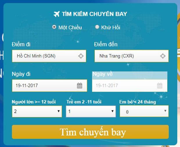 Đặt vé máy bay VietNamAirlines