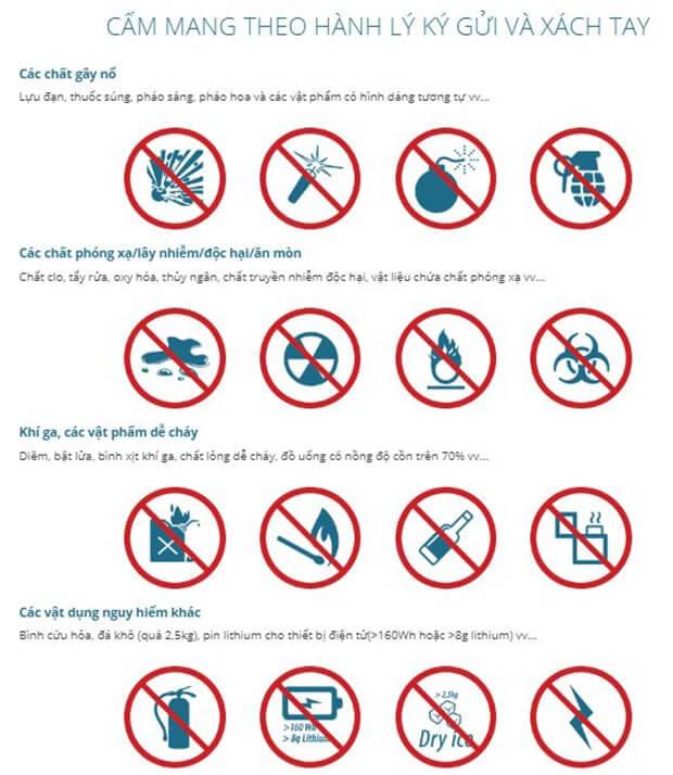 Hành lý hạn chế vận chuyển VietNamAirlines