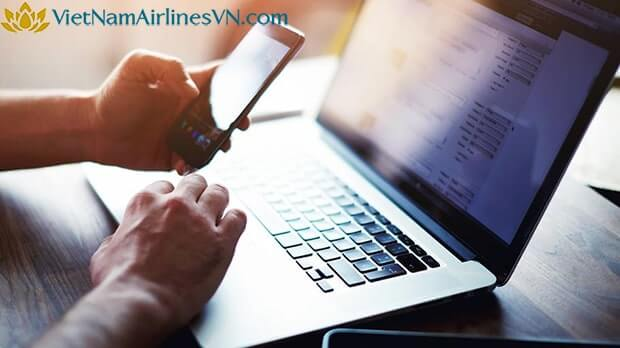 hướng dẫn làm thủ tục trực tuyến Vietnam Airlines