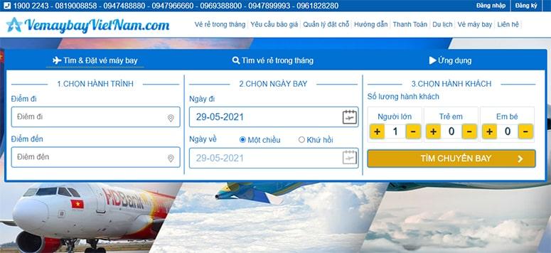 Giá vé máy bay VietJet