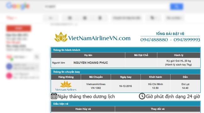 Hướng dẫn thanh toán vé máy bay