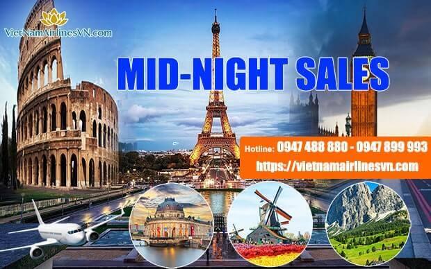 Ưu đãi Mid-night Sales, săn vé máy bay giá rẻ đi châu Âu cùng Vietnam Airlines