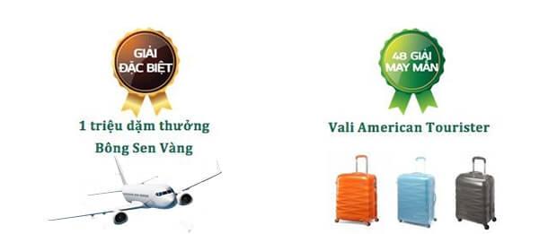 Vietnam Airlines khuyến mãi triệu phú dặm thưởng